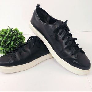 Cole Haan black leather tennis shoe sneaker
